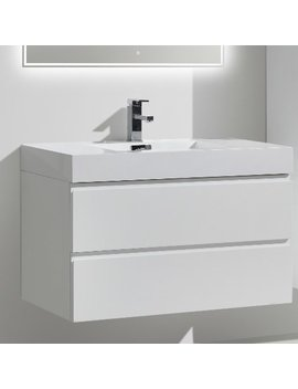 "Morenobath Mof 36"" Wall Mounted Single Bathroom Vanity Set & Reviews by Morenobath"