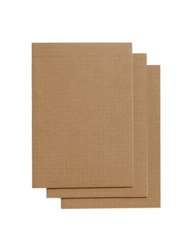 Kraft A5 Slim Grid Exercise Books   Pack Of 3 by Paperchase