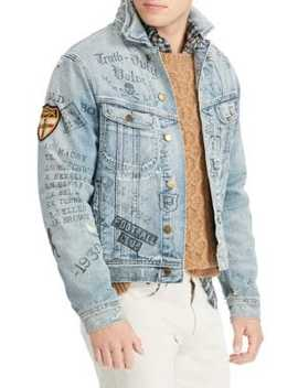 Graphic Denim Jacket by Polo Ralph Lauren