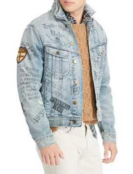 Graphic Denim Jacket by Polo Ralph Lauren