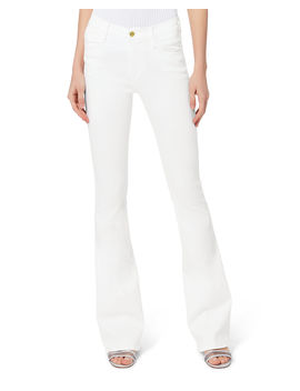Le High Flare White Jeans by Frame