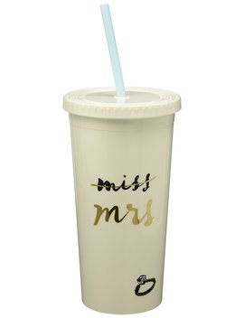 Kate Spade New York Women's Miss To Mrs. Tumbler With Straw by Kate+Spade+New+York