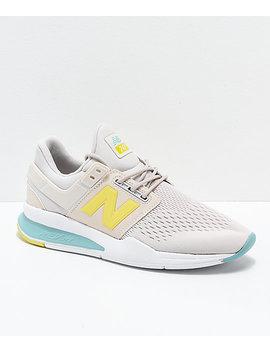 New Balance Lifestyle 247v2 Tritium Moonbeam & Sage Shoes by New Balance
