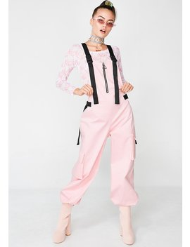Pink Cotton Twill Overalls by Jaded London
