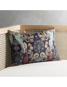 """18""""X12"""" Regal Monkeys Pillow With Down Alternative Insert by Crate&Barrel"""