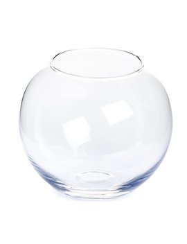 Wilko Glass Fish Bowl Vase Clear by Wilko
