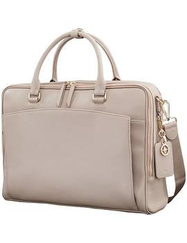 Ladies Leather Zip Brief by Samsonite