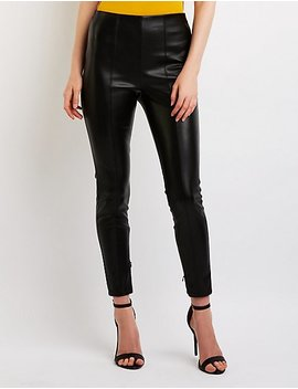 Faux Leather Leggings by Charlotte Russe