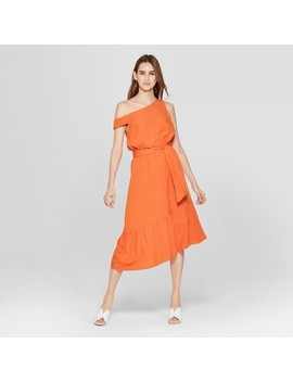 Women's Asymmetric One Shoulder Midi Dress   Mossimo™ by Shop All Mossimo