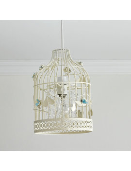 Wilko Birdcage Shade Cream And Blue by Wilko