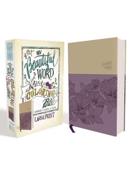 Niv, Beautiful Word Coloring Bible, Large Print, Imitation Leather, Purple/Tan by Zondervan