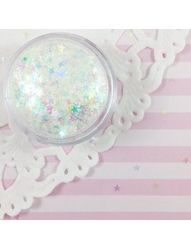 3mm Clear Iridescent Star Glitter by Adorella