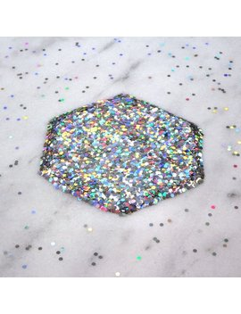 Laser Holographic Silver Hexagon Glitter | 1 Mm | 2 Mm | 3 Mm | Solvent Resistant | Slime Art | Nail Art | Resin Jewelry | Tumbler | Crafts by Wenlan Frost Design