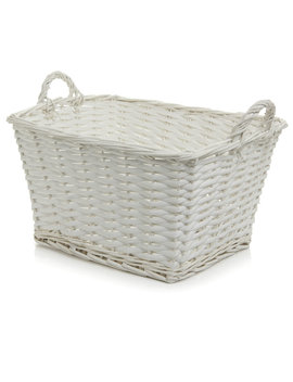 Wilko Willow Storage Tote White by Wilko