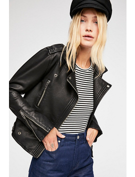 Vegan Leather Moto Jacket by Free People