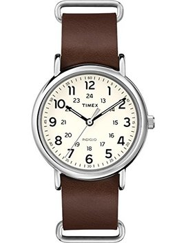 Weekender T2 P495 Orologio Analogico Da Polso, Unisex, Pelle, Marrone by Timex