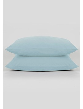 2 Pack 100 Percents Cotton Percale Housewife Pillowcases (200 Thread Count) by Matalan