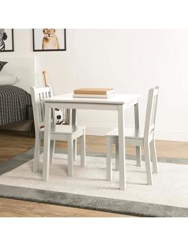 Daylight 3 Piece White Kids Table And Chair Set by Tot Tutors