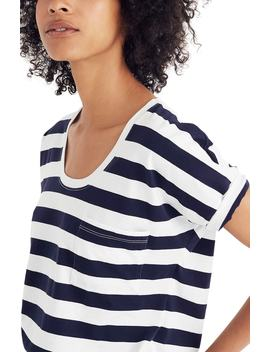 Stripe U Neck Tee by Madewell