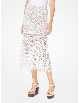 Mixed Floral Lace Skirt by Michael Michael Kors