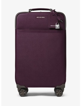 Jet Set Travel Saffiano Leather Suitcase by Michael Michael Kors