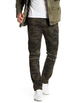 "Camo Print Ribbed Standard Fit Jeans   30 32"" Inseam by Xray"