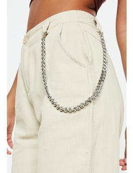 Silver Chain Belt by Missguided