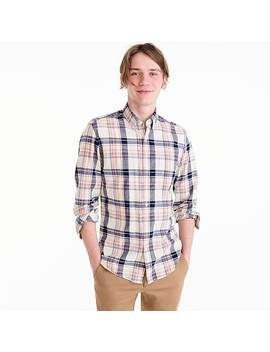 Slim Indian Madras Shirt In Indigo Plaid by J.Crew