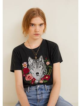 T Shirt Bordado Decorativo by Mango