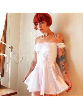 Tori Barmaid Satin Dress by Malicious Designs La