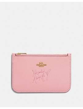 Selena Zip Card Case In Colorblock by Coach