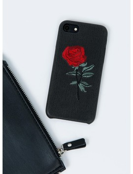 Embroidered Rose Phone Case by Princess Polly