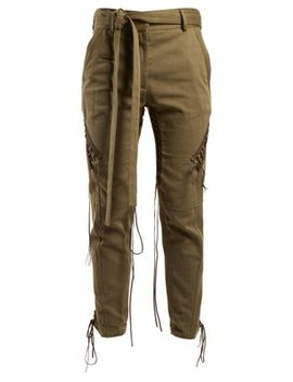 Mid Rise Tie Waist Trousers by Saint Laurent