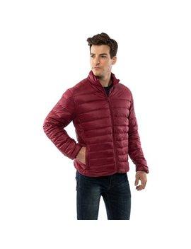 Niko Men's Down Jacket Puffer Bubble Coat Packable Light Warm Parka by Alpine Swiss