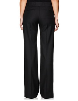 Herringbone Weave Wool Trousers by Barneys New York