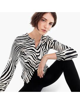 Cotton Jackie Cardigan In Zebra by J.Crew