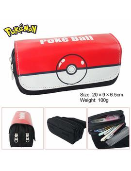 Cut Canvas Pencil Pen Bag Case Box Cosmetic Pouch Pocket Brush Holder Makeup Bags, Pokemon Pokeball by Esonhouse