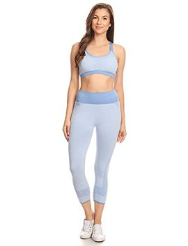 Women's Two Pieces Outfit   Yoga Pant & Bra Set   Active Casual   3 Colors by Attrack Power