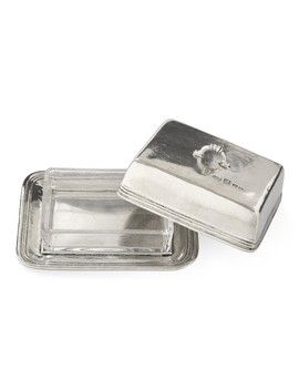 Pewter Butter Dish by Williams   Sonoma