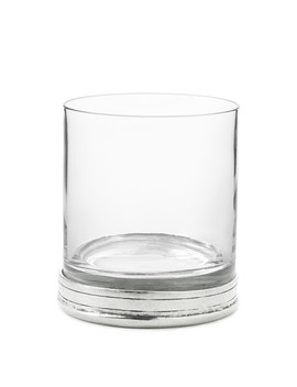 Pewter Double Old Fashioned Glasses, Set Of 2 by Williams   Sonoma