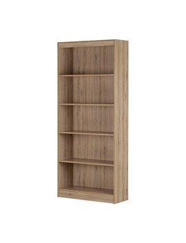 South Shore 5 Shelf Storage Bookcase, Rustic Oak by South Shore