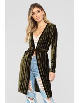Strut My Stuff Duster   Olive by Fashion Nova