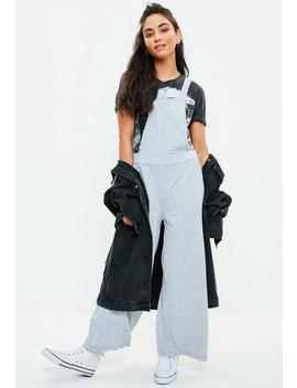 Gray Wide Leg Overalls by Missguided