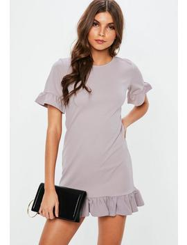 Grey Fill Short Sleeve Dress by Missguided