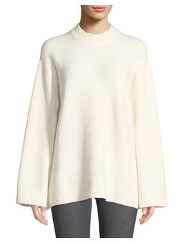 Josette Oversized Boucle Pullover Sweater by Elizabeth & James