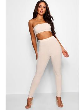 Bandeau Top & High Waisted Legging Co Ord by Boohoo