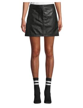 Mila Leather Mini Skirt by Rag & Bone