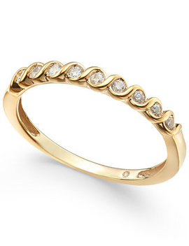 Diamond S Curve Stack Ring (1/6 Ct. T.W.) by Macy's