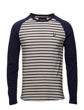Ls Baseball Breton T Shirt by Lyle & Scott