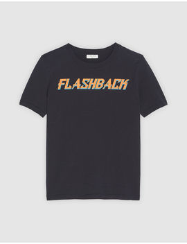 Flashback Short Sleeved T Shirt by Sandro Eshop